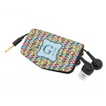 Retro Pixel Squares Genuine Leather Cord Wrap (Personalized)