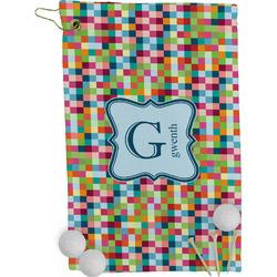 Retro Pixel Squares Golf Towel - Full Print (Personalized)