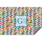 Retro Pixel Squares Indoor / Outdoor Rug (Personalized)