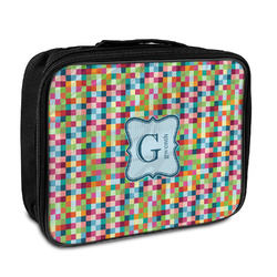 Retro Pixel Squares Insulated Lunch Bag (Personalized)