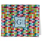 Retro Pixel Squares Kitchen Towel - Full Print (Personalized)