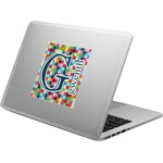 Retro Pixel Squares Laptop Decal (Personalized)