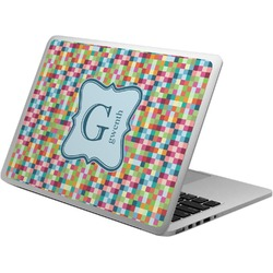 Retro Pixel Squares Laptop Skin - Custom Sized (Personalized)