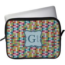 "Retro Pixel Squares Laptop Sleeve / Case - 15"" (Personalized)"