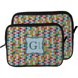 Retro Pixel Squares Laptop Sleeve / Case (Personalized)