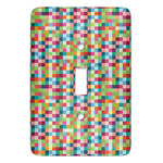 Retro Pixel Squares Light Switch Covers (Personalized)