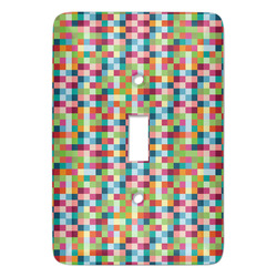 Retro Pixel Squares Light Switch Covers - Multiple Toggle Options Available (Personalized)