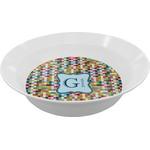 Retro Pixel Squares Melamine Bowl (Personalized)