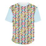 Retro Pixel Squares Men's Crew T-Shirt (Personalized)
