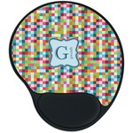 Retro Pixel Squares Mouse Pad with Wrist Support