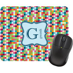 Retro Pixel Squares Mouse Pad (Personalized)