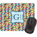 Retro Pixel Squares Mouse Pad (Personalized)