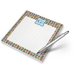 Retro Pixel Squares Notepad (Personalized)