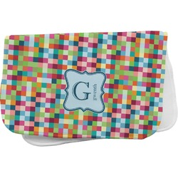 Retro Pixel Squares Burp Cloth (Personalized)