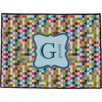 Retro Pixel Squares Door Mat (Personalized)