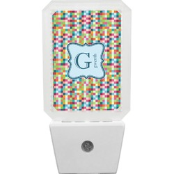 Retro Pixel Squares Night Light (Personalized)