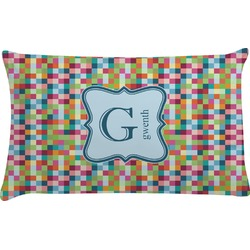 Retro Pixel Squares Pillow Case (Personalized)