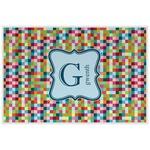 Retro Pixel Squares Placemat (Laminated) (Personalized)