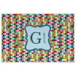 Retro Pixel Squares Laminated Placemat w/ Name and Initial