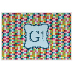 Retro Pixel Squares Placemat (Laminated) (Personalized)