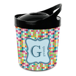 Retro Pixel Squares Plastic Ice Bucket (Personalized)