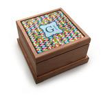 Retro Pixel Squares Pet Urn w/ Name and Initial
