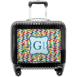 Retro Pixel Squares Pilot / Flight Suitcase (Personalized)