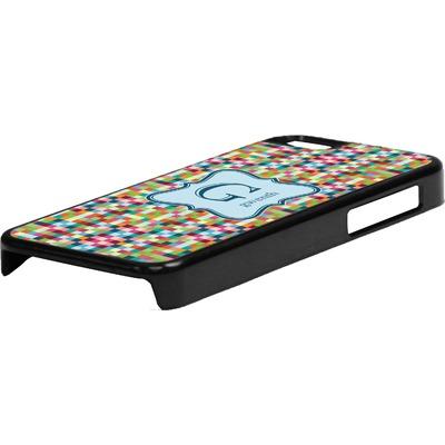 Retro Pixel Squares Plastic iPhone 5C Phone Case (Personalized)