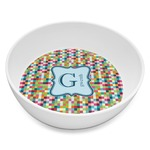 Retro Pixel Squares Melamine Bowl 8oz (Personalized)