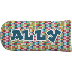 Retro Pixel Squares Putter Cover (Personalized)