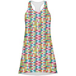 Retro Pixel Squares Racerback Dress (Personalized)