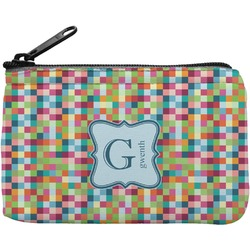 Retro Pixel Squares Rectangular Coin Purse (Personalized)