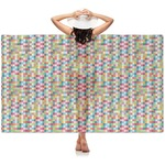 Retro Pixel Squares Sheer Sarong (Personalized)
