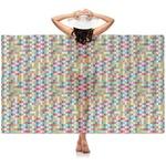 Retro Pixel Squares Sheer Sarong (Personalized)