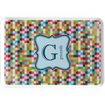 Retro Pixel Squares Serving Tray (Personalized)