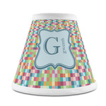 Retro Pixel Squares Chandelier Lamp Shade (Personalized)