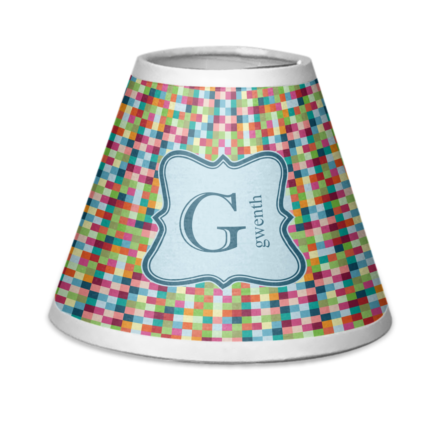 Retro Pixel Squares Chandelier Lamp Shade Personalized