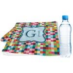 Retro Pixel Squares Sports & Fitness Towel (Personalized)