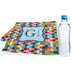 Retro Pixel Squares Sports Towel (Personalized)