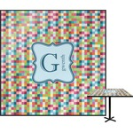 Retro Pixel Squares Square Table Top (Personalized)