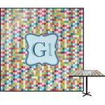 Retro Pixel Squares Square Table Top (Personalized)