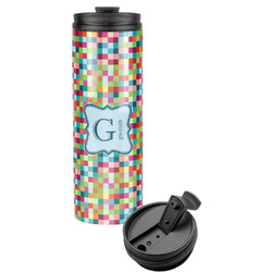 Retro Pixel Squares Stainless Steel Tumbler (Personalized)