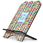 Retro Pixel Squares Stylized Tablet Stand (Personalized)
