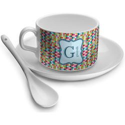 Retro Pixel Squares Tea Cups (Personalized)