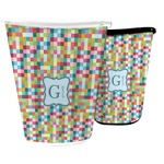 Retro Pixel Squares Waste Basket (Personalized)