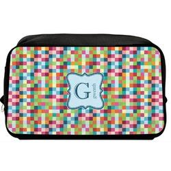 Retro Pixel Squares Toiletry Bag / Dopp Kit (Personalized)