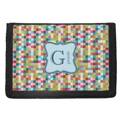 Retro Pixel Squares Trifold Wallet (Personalized)
