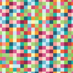 Retro Pixel Squares Wallpaper & Surface Covering