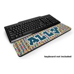 Retro Pixel Squares Keyboard Wrist Rest (Personalized)