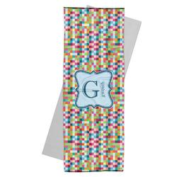 Retro Pixel Squares Yoga Mat Towel (Personalized)